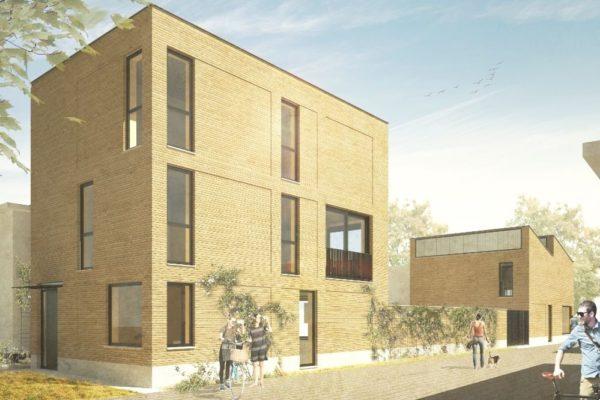 Nieuwbouw van een woonhuis met werkplaats op het NRE-terrein in Eindhoven